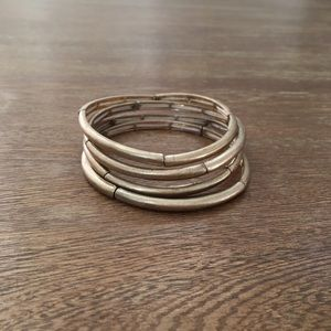 Stretchy Stacked Bangles